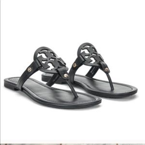 Tory Burch Miller sandals black 10